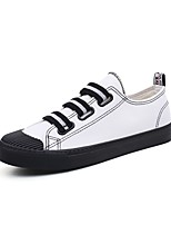 cheap -Men's Shoes Canvas Summer Comfort / Driving Shoes Sneakers White / Black