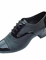 Недорогие -Муж. Обувь для модерна Полиуретан Оксфорды Выступление / Тренировочные На толстом каблуке Танцевальная обувь Черный