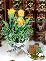 cheap -Artificial Flowers 1 Rustic Plants Tabletop Flower / Included