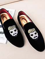 cheap -Men's Shoes Suede Fall Formal Shoes Loafers & Slip-Ons Black / Red
