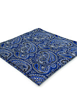 cheap -Men's Vintage / Party / Work Pocket Squares - Color Block / Paisley / Jacquard Blue & White