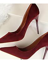 abordables -Femme Chaussures Daim / Polyuréthane Printemps Confort / Escarpin Basique Chaussures à Talons Talon Aiguille Rose / Bleu royal / Bourgogne