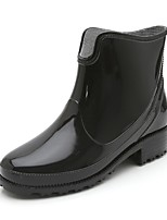cheap -Women's Shoes PVC Leather Fall & Winter Rain Boots Boots Walking Shoes Low Heel Booties / Ankle Boots Black / Red / Blue
