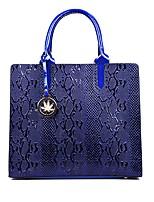 cheap -Women's Bags PU Shoulder Bag Zipper / Embossed Black / Red / Brown