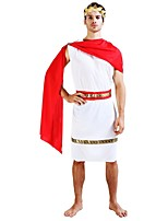 cheap -Egyptian Costume Outfits Men's Halloween / Carnival / Day of the Dead Festival / Holiday Halloween Costumes White Solid Colored /