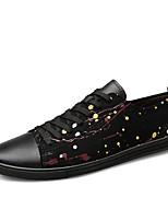 cheap -Men's Shoes Cowhide Summer Comfort Sneakers Black