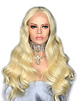 cheap -Remy Human Hair Lace Front Wig Wig Brazilian Hair / Body Wave Wavy 130% Density Women's Long Human Hair Lace Wig