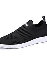 Недорогие -Муж. обувь Ткань Тюль Лето Удобная обувь Мокасины и Свитер для на открытом воздухе Черный Серый Красный
