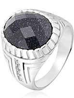 cheap -Crystal Statement Ring - Fashion, Disco 7 / 8 / 9 Black / Purple / Green For Daily / Club