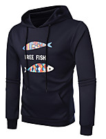 cheap -Men's Active Hoodie - Solid Colored Geometric