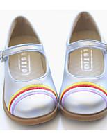 Недорогие -Девочки Обувь Искусственное волокно Весна Удобная обувь На плокой подошве для Черный / Серебряный