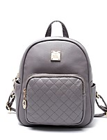 cheap -Women's Bags PU Backpack Zipper for Outdoor Black / Blushing Pink / Gray
