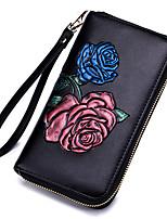 cheap -Women's Bags Cowhide Wallet Zipper / Embossed Blue / Gold / Purple