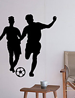 cheap -Decorative Wall Stickers - People Wall Stickers Football Living Room Bedroom Bathroom Kitchen Dining Room Study Room / Office