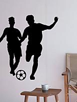 abordables -Calcomanías Decorativas de Pared - Pegatinas de pared de personas Fútbol Americano Sala de estar Dormitorio Baño Cocina Comedor