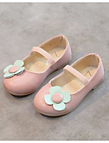 Недорогие -Девочки Обувь Полиуретан Весна Удобная обувь Топ-сайдеры Цветы для Черный / Синий / Розовый