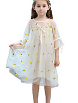 cheap -Kids / Toddler Girls' Pineapple Fruit Half Sleeve Dress