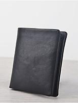 cheap -Men's Bags PU Wallet Zipper Black
