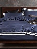 preiswerte -Bettbezug-Sets Solide 100% Baumwolle Reaktivdruck 4 Stück