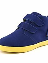 Недорогие -Мальчики Обувь Кожа Осень Удобная обувь Кеды На липучках для Черный / Зеленый / Синий