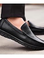 Недорогие -Муж. обувь Кожа Осень Мокасины / Удобная обувь Мокасины и Свитер Черный