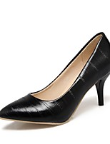 cheap -Women's Shoes Leatherette Spring & Summer Basic Pump Heels Stiletto Heel Pointed Toe Black / Red / Pink / Wedding / Party & Evening