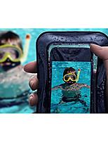 Недорогие -Кейс для Назначение Apple iPhone X / iPhone 7 Водонепроницаемый / Полупрозрачный Мешочек Однотонный Мягкий ABS + PC для iPhone X / iPhone