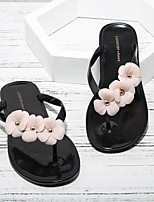 cheap -Women's Shoes EVA Summer Moccasin Slippers & Flip-Flops Flat Heel Round Toe for Outdoor Black / Pink / White