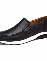 cheap -Men's Shoes Cowhide / Nappa Leather Spring Comfort Loafers & Slip-Ons Black / Blue