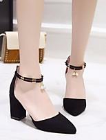 cheap -Women's Shoes Nubuck leather Fall Comfort / Basic Pump Heels Chunky Heel Black / Gray