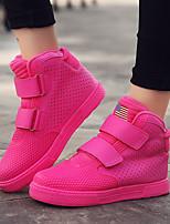 Недорогие -Жен. Обувь Полиуретан Наступила зима Удобная обувь Кеды На плоской подошве Белый / Красный