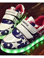 Недорогие -Мальчики Обувь Полиуретан Весна Удобная обувь / Обувь с подсветкой Кеды для Темно-синий