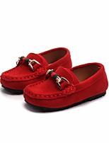 Недорогие -Девочки Обувь Кожа Весна Удобная обувь Мокасины и Свитер для Черный / Желтый / Красный