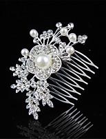 abordables -Décorations / Peigne de Côté Accessoires pour cheveux Imitation de perle / Alliage Perruques Accessoires Femme 1pcs pcs 8 cm cm Mariage /