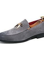Недорогие -Муж. Официальная обувь Замша Весна & осень На каждый день / Английский Мокасины и Свитер Нескользкий Черный / Серый