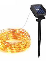 Недорогие -10 м Гирлянды 100 светодиоды 1 монтажный кронштейн Тёплый белый / RGB / Белый Работает от солнечной энергии / Водонепроницаемый /