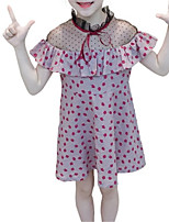 abordables -Enfants Fille Points Polka Manches Courtes Robe