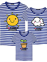 cheap -Adults / Kids / Toddler Girls' Color Block / Letter Short Sleeve Tee
