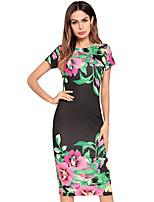 cheap -TS - Dreamy Land Women's Slim Sheath Dress - Floral