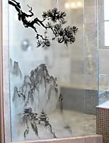 Недорогие -Оконная пленка и наклейки Украшение Простой Простой ПВХ Стикер на окна / Матовая / Водоотталкивающие
