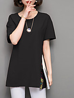 cheap -Women's Vintage T-shirt - Solid Colored Crane, Tassel