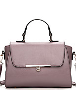 cheap -Women's Bags PU / leatherette Tote Zipper for Event / Party / Office & Career Red / Light Purple / Light Grey