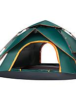 abordables -4 personnes Tente Double couche Tente de camping Extérieur Tente automatique Etanche / Séchage rapide pour Camping / Randonnée /
