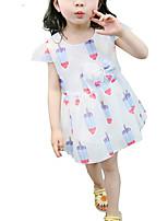 cheap -Toddler Girls' Geometric Short Sleeve Dress