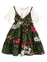 preiswerte -Kinder Mädchen Druck Kurzarm Kleidungs Set