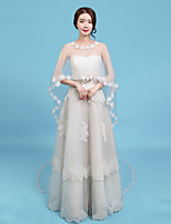 cheap -Sleeveless Tulle Wedding / Party / Evening Women's Wrap With Appliques Capelets