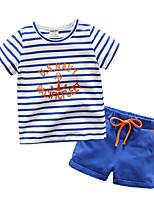 cheap -Kids Boys' Striped Short Sleeves Tee