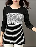 economico -T-shirt Per donna Attivo Monocolore Stondata