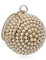 cheap -Women's Bags Terylene Evening Bag Crystals / Pearls for Event / Party Black / Silver / Red