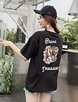 abordables -Tee-shirt Femme, Animal Imprimé Basique Tiger